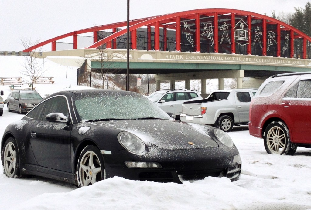 Snow covered 997 Targa